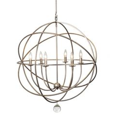 Z Gallerie - Eclipse Chandelier - dining room fixture. like the round since we have so many dark squares  with the furniture