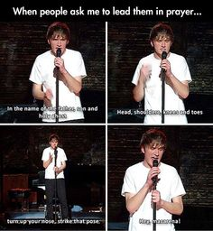 Bo Burnham on praying.
