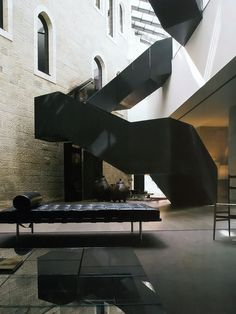 "Conservatorium Hotel Amsterdam by Piero Lissoni. Ludwig Mies van der Rohe - Knoll - ""Mies"" daybed available at DREAM Interiors"