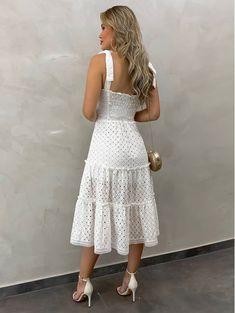 Dress Backs, Dress Up, Vestidos Off White, Silk Mini Dress, Looks Chic, Summer Fashion Outfits, Alternative Fashion, Day Dresses, Blouse Designs