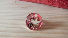 Bird in the wood resin ring by artzbakery on Etsy