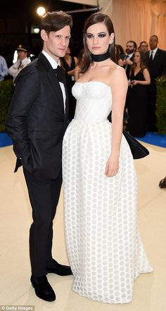MET GALA 2017 MATT SMITH & LILY JAMES Date night: The Crown star Matt Smith made the gala a date night with Downton's Lily James...