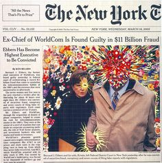 Fred Tomaselli makes collages on the front page of old New York Times.