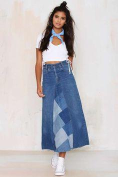 After Party Vintage Palmina Denim Skirt