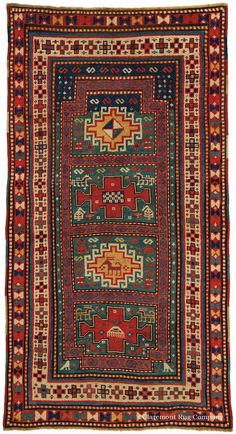 KARACHOV KAZAK, Southern Central Caucasian 2ft 10in x 5ft 4in Late 19th Century  http://www.claremontrug.com/antique-oriental-rugs-carpets/antique-rugs-KARACHOV+KAZAK%2c+Southern+Central+Caucasian-2774?