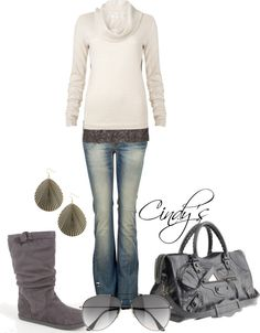 """Wool Cowl Neck Knit"" by cindycook10 on Polyvore"