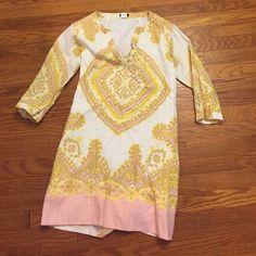 Tunic dress j crew xs Perfect condition. Linen. Lined J. Crew Dresses