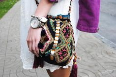 Boho bag Chaqueta/Jacket:H M KidsVestido/Dress:Zara Kids (New)Pulsera/Bracelet:Gracias a/Thanks to Masquepulseras Reloj/Watch:Dolce and GabbanaGafas/Sunglasses:Ray-BanBolso/Bag:SuiteBlanco (New)Botines/Booties:Bsk¡Buenos días prec Zara Kids, Ethnic Bag, Fab Bag, Boho Fashion, Womens Fashion, High Fashion, Boho Inspiration, Boho Bags, Bohol