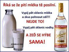 mlieko a vodka