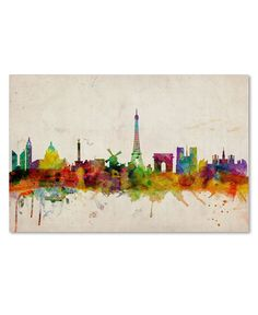 "'Paris Skyline' Canvas Print by Michael Tompsett, 16"" x 24"" - Wall Art - For The Home - Macy's"