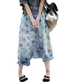 Fensajomon Men Elastic Waist Drawstring Plus Size Harem Pants Contrast Color Casual Pants Trousers