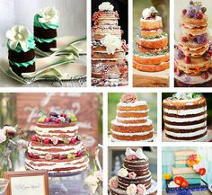 EAT MORE CAKE: Naked Cakes - Bolos nus!