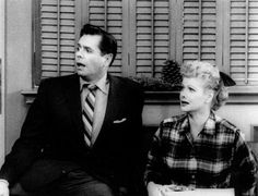 "Desi Arnaz and Lucille Ball, as Ricky and Lucy Ricardo, appear in a scene from an ""I Love Lucy"" Christmas special in this 1956 file photo. Millions worldwide have come to love the show over the years since its debut on CBS in October William Frawley, I Love Lucy Show, Vivian Vance, Lucille Ball Desi Arnaz, Lucy And Ricky, Rare Images, Bing Images, Celebrity Photos, Movie Tv"