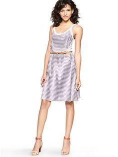 Contrast stripe dress | Gap