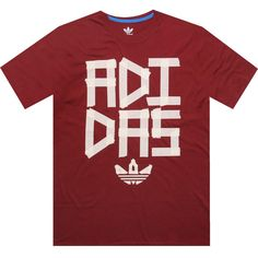 online retailer 1d3b3 a328e Adidas All Taped Up mars red tee