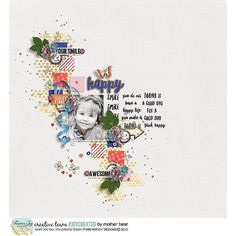 Sharing some #joycreated by the creative team with the NEW design  ORANGE YOU GLAD #digiscrap #scrapbooking #projectlife