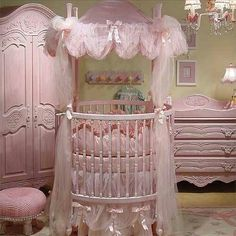 Princess nursery...NO MORE  BABIES BUT GREAT GRAND CHILDREN ARE IN THE FUTURE AND I LOVE BEAUTIFUL NURSERIES
