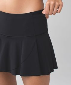 e3d9802dc8 Lululemon Hit Your Stride Skirt - Black - lulu fanatics Running Gear,  Running Women,
