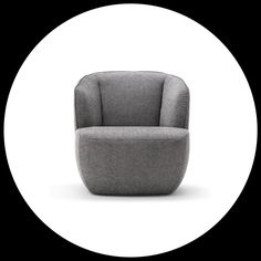 An island of calm. The Rolf Benz 384 armchair.