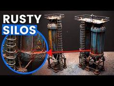 (770) Gritty & RUSTED Industrial Silos (40K Terrain Building) - YouTube 40k Terrain, Wargaming Terrain, Challenges, Industrial, Building, Youtube, Prints, Buildings, Industrial Music