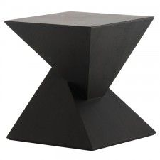 An inspired union of form and function, the strikingly sculptural Nuevo Giza side table features an intriguing double pyramid design. The Giza is compelling, balanced and elegant. W x L x H Material: Walnut Finish: Walnut or Black Shop more Nuevo Flip Top Table, Coffee And End Tables, Occasional Tables, Chair Side Table, Side Tables, Black Side Table, Drink Table, Living Room Flooring, Wood Square
