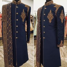 Get this tailored from us  From more details #mizznoor #fashion #style #partydress #pakistanifashion #asiandesign #sherwani #groomstyle  cs@mizznoor.co.uk www.mizznoor.co.uk