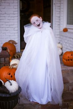 friendly ghost -- tulle hooded cape