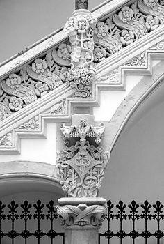hierarchical-aestheticism: Art Nouveau Staircase feature in Barcelona Architecture Art Nouveau, Art Et Architecture, Beautiful Architecture, Beautiful Buildings, Architecture Details, Gaudi, Art Nouveau Arquitectura, Art Deco, Stairway To Heaven