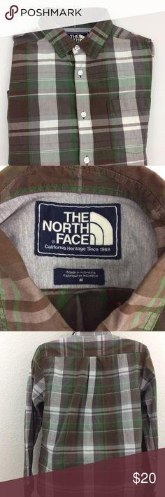 The north face men's medium button down shirt Plaid,great Shirt! The North Face Shirts Casual Button Down Shirts