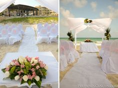 Gorgeous beach ceremony at #NowJadeRivieraCancun #Mexico #DestinationWedding Photo Credit: www.photosincancun.com