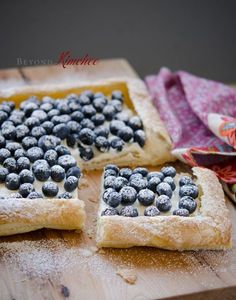 Blueberry Tart, using store-bought puff pastry sheets