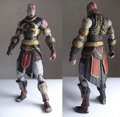Kratos Dominus Costume custom action figure from the God of War series using Kratos Armor of Ares Neca as the base, created by Wilksaur. Greek Mythology Gods, Gods And Goddesses, Star Wars Action Figures, Custom Action Figures, Fantasy Armor, Dark Fantasy, God Of War Series, Action Figure One Piece, Recycled Crafts