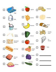 kids grocery list | Kids' Printable Grocery List