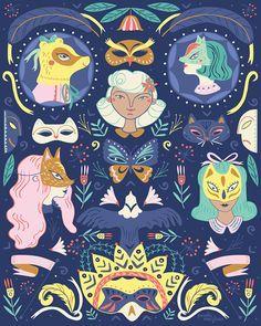 "'Disguise' Art Print, 8"" x 10"" Giclee Print on Cotton Rag, www.paulamcgloin.com @paulamcgloin"