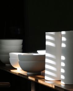 Tableware on the dining table. Ceramics by Miro Chun.  miromadethis.com