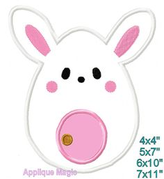 Chocolate Bunny Easter Baby Machine Applique Design Embroidery Pattern for Face Masks or Others 4x4 5x7 6x10 INSTANT DOWNLOAD by AppliqueMagic on Etsy Embroidery Patterns, Machine Embroidery, Machine Applique Designs, Different Types Of Fabric, Chocolate Bunny, W 6, Easter Bunny, Printing On Fabric, Pattern Design