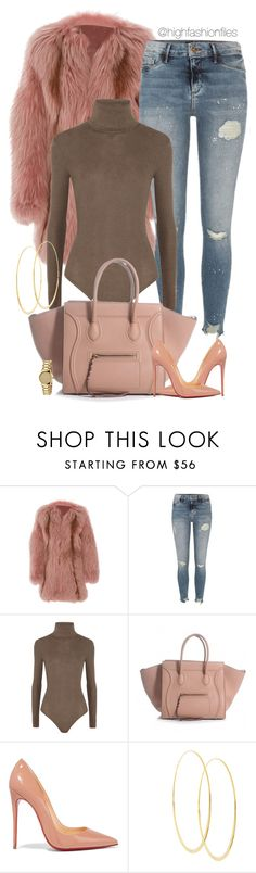 """""""Untitled #2693"""" by highfashionfiles ❤ liked on Polyvore featuring J. Mendel, River Island, MICHAEL Michael Kors, Christian Louboutin, Lana and Gucci"""
