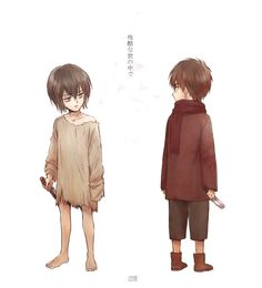 Little Eren and Levi. My heart x) I just finished reading chapter 70 and realised that now I'll have to wait until August for the next chapter. I feel completely lost x)