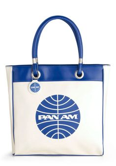 My mother worked for Pan Am before she got married and I remember finding a stash of these bags in the basement when I was a kid. We used them for gym bags. NOW THEY ARE SELLING FOR ALMOST $100. smh The Day Flew By Bag, #ModCloth