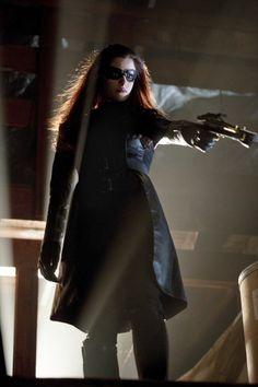 Jessica De Gouw in Arrow as the Huntress