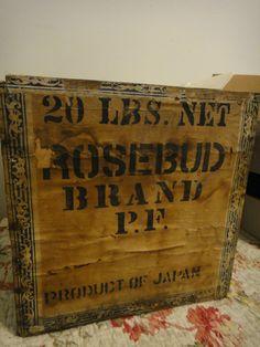 Antique tea crate Box ROSEBUD Japan old wallpaper advertising primitive | Antiques, Primitives | eBay!