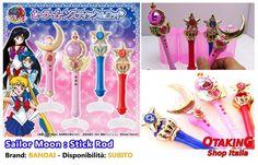 """""""Sailor Moon: Stick Rod"""", originali BANDAI! Per info e per acquistarli clicca qui--> https://www.facebook.com/otakingshopitalia/photos/a.728888637241288.1073741848.643117879151698/750165145113637/?type=3&theater Consegna gratuita su ROMA o spedizioni tracciate in tutta Italia!"""