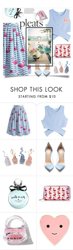 """""""Give Me Pleats, Please!"""" by katerina1500 ❤ liked on Polyvore featuring Chicwish, Jonathan Simkhai, Gianvito Rossi, Kate Spade, Skinnydip, Rodin and ban.do"""