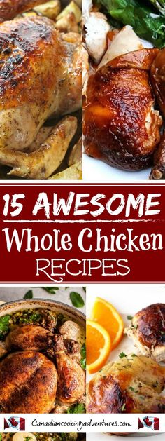 Awesome Whole Chicken Recipes 15 Awesome Whole Chicken Recipes! Just in time for FALL :) Awesome Whole Chicken Recipes! Just in time for FALL :) Enjoy! Best Paleo Recipes, Low Carb Chicken Recipes, Fun Easy Recipes, Indian Food Recipes, Crockpot Recipes, Dinner Recipes, Easy Meals, Cooking Recipes, Favorite Recipes
