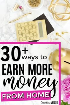 These are so great! If you want to learn how to make extra money right now, then you've come to the right place. Here's how to make money and how to make money online! 30+ Real Ways to Earn Money From Home. Make money as a stay at home mom. Easy ways to make money from home Real ways to make money form home. Legit ways to earn more money. Side hustles that work. Earning extra money.