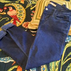 Distressed blue Joes Jeans The Highwater Jean. Worn two times. Feel like butter. I just don't need another pair of jeans right now. Cool to pair with sneakers or sandals. Perfect condition. Joe's Jeans Pants Skinny