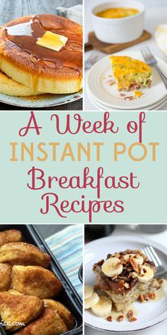 If your mornings are out of control, you need these Instant Pot breakfast recipes! Who doesn't need an easy & delicious start to your day?