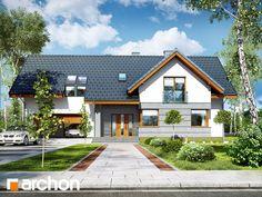 w skrzydłokwiatach 2 Sims House Design, Modern House Design, One Storey House, American Houses, Modern Rustic Homes, Hamptons House, Home Design Plans, Pool Houses, Home Fashion