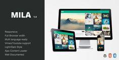 Mila - Ajax Portfolio Theme - Wordpress by SpabRice Mila Ajax Portfolio Theme Wordpress Mila is a masonry based Wordpress Theme optimized for a nice and good User Experience. Mila