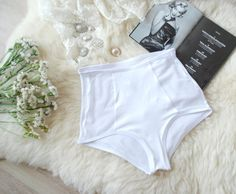 White high waisted panties Woman s lingerie Wedding ab97d4157